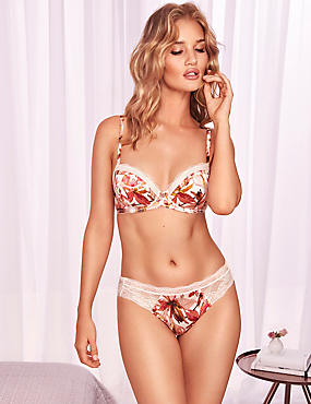 Silk & Lace Floral Print Set with Balcony A-E