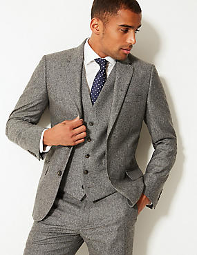 Textured Tailored Fit 3 Piece Suit, , catlanding