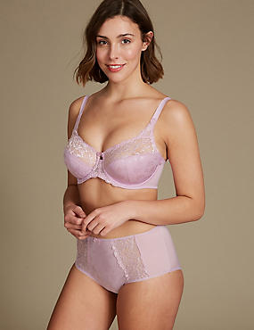 Jacquard Lace Set with Full Cup DD-H