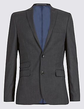 Charcoal Superslim Suit Including Waistcoat