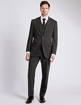 Charcoal Regular Fit 3 Piece Suit