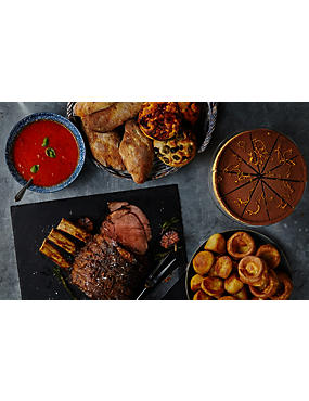 3 Course Beef Sunday Roast for 6 (£15.33 Per Person)