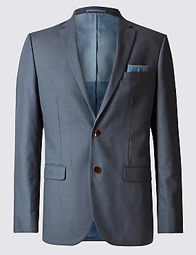 Dark Blue Denim Tailored Fit Suit