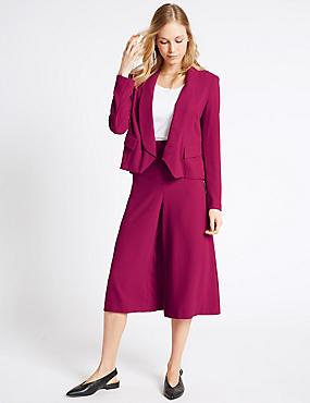 Cropped Crepe Jacket & Culottes Set