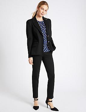 Blazer & Slim Leg Trousers Suit Set, , catlanding