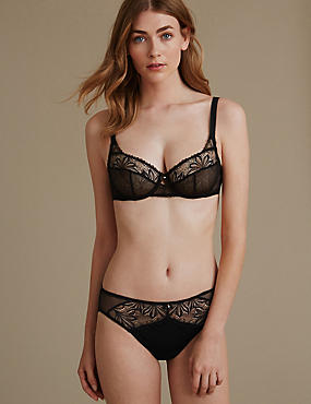 Arelia Lace Set with Lace Non-Padded Underwired Full Cup A-DD