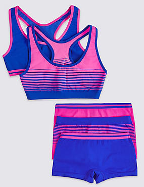 Seamfree Crop Tops & Shorts Set