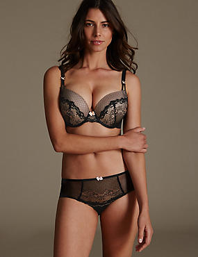 Lace Set with Padded Plunge DD-GG