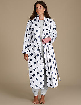 Star Print Pyjama Set with Dressing Gown