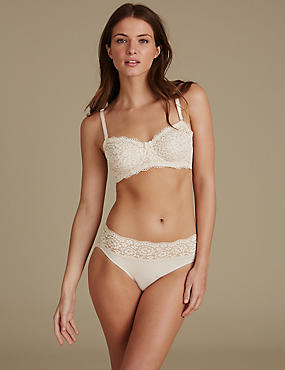 Lace Set with Non Padded Strapless A-E