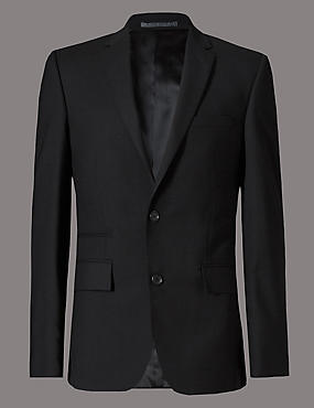 Black Tailored Fit Suit Including Waistcoat