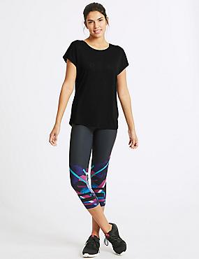 Burnout Short Sleeve Top & Leggings Outfit , , catlanding