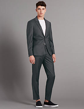 Charcoal Tailored Fit Suit with Buttonsafe™