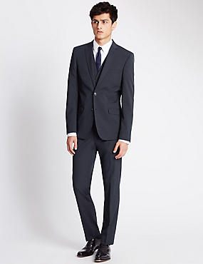 Navy Superslim Fit 3 Piece Suit