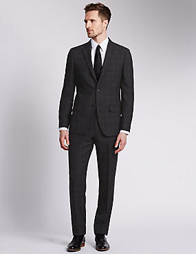 Ultimate Performance Grey Check Tailored Fit Suit