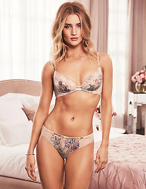 Silk and Lace Set With Padded Plunge A-E
