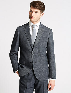 Linen Miracle Regular Fit Suit, , catlanding