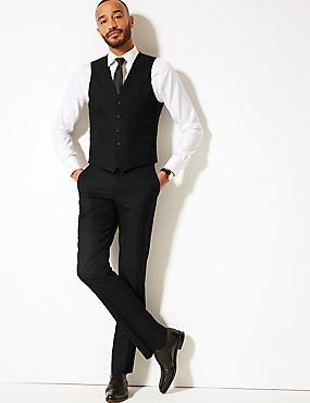 Black Slim Fit 3 Piece Suit, , catlanding
