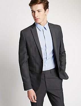 Grey Checked Modern Slim Fit Suit