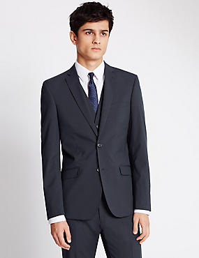 Navy Superslim Suit with Waistcoat