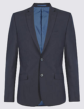 Navy Superslim Suit Including Waistcoat