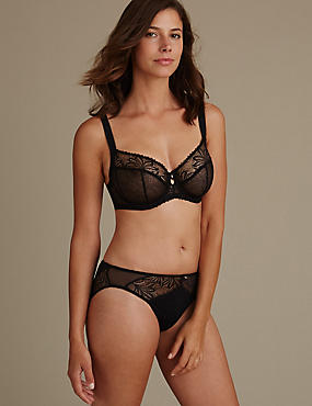 Arelia Lace Set with Non-Padded Underwired Balcony DD-GG