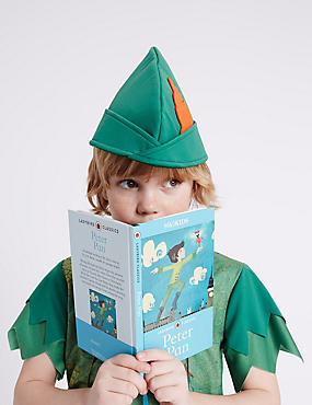 Kids' Peter Pan Dress Up Costume with Book