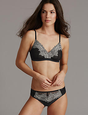 Applique Lace Bralet Set