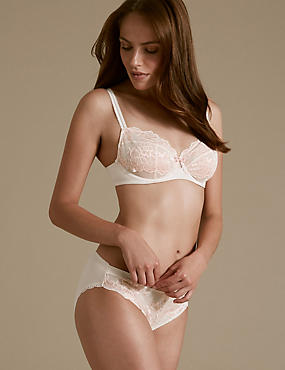 Sumptuously Soft Lace Set with Ultimate Comfort Balcony A-DD