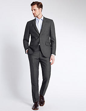 Charcoal Checked Tailored Fit Suit