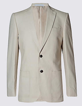 Beige Regular Fit Suit