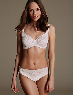Jacquard Lace Set with Underwired Full Cup
