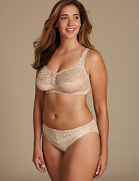 Jacquard & Lace Set with High Leg B-G