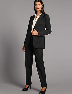 Wool Blend Suit Jacket & Trousers Set