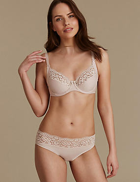 Vintage Lace Cotton Rich Set with Non-Padded Full Cup B-E