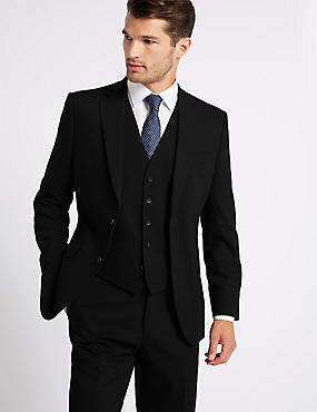 Big & Tall Black Regular Fit 3 Piece Suit, , catlanding