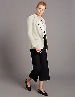 Textured Blazer & Jeans Set