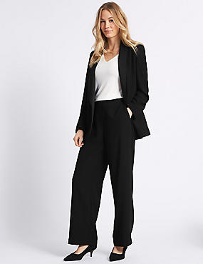 Blazer & Wide Leg Trousers Suit Set