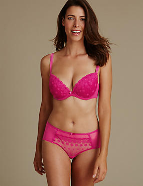 Embroidered Set with Padded Plunge DD-G