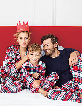 Matching PJs across Women's, Men's & Kidswear from only £6