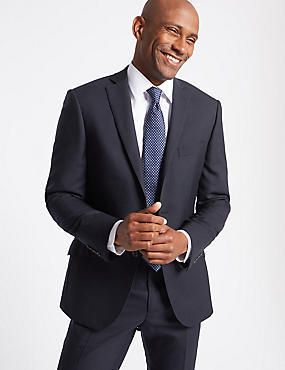 Navy Slim Fit Wool Suit