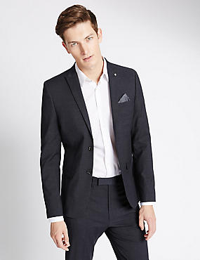 Charcoal Textured Modern Slim Fit Suit