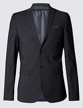 Charcoal Textured Modern Slim Suit
