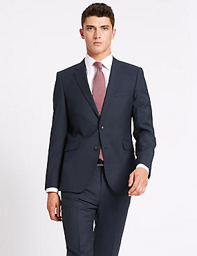Indigo Tailored Fit Wool Travel Suit