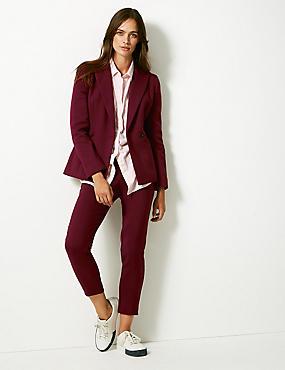 Blazer & Straight Leg Trousers Suit Set  , , catlanding