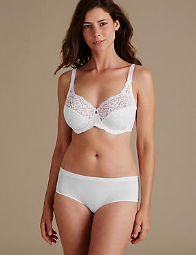 Lace Set with Non Padded Full Cup DD-H