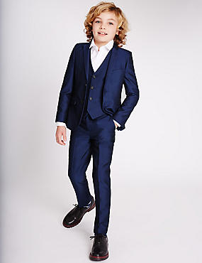Blue Slim Fit Suit (3-14 Years)