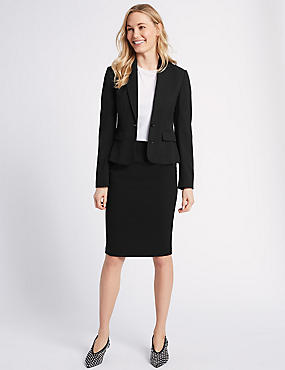 Blazer & Pencil Skirt Suit Set  , , catlanding