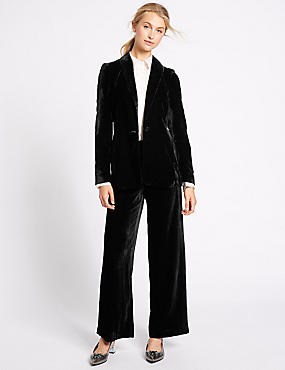 Velvet Jacket & Wide Leg Trousers