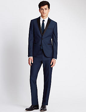 Navy Super Slim Fit Dinner Suit